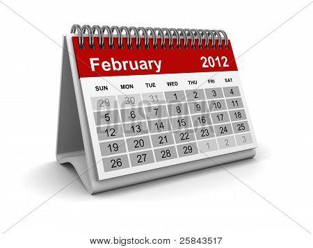 Calendar 2012 - February