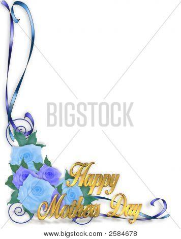 Mothers Day Corner Design Blue Roses