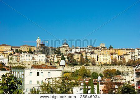 old town of Bergamo, Italy