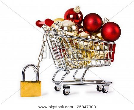 Secure Christmas shopping concept
