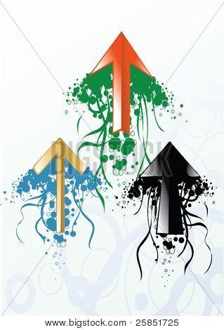 vector colored arrows