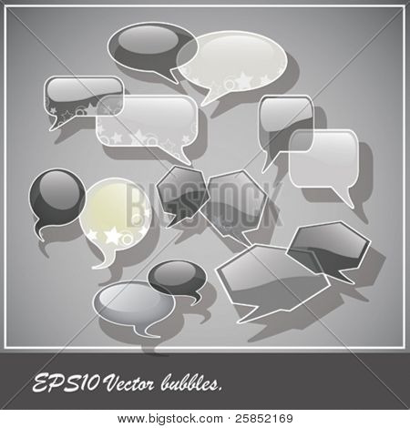 Speach bubbles. vector eps10