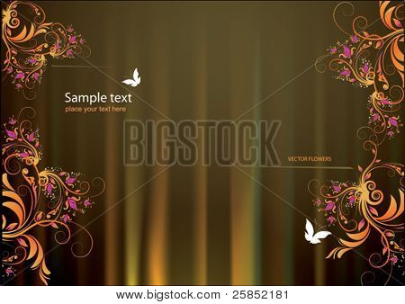 Elegant background with Flowers