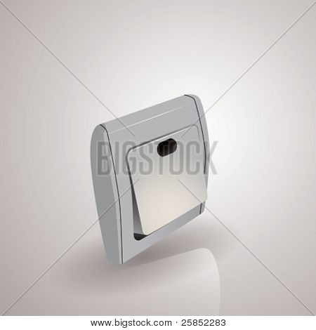 Abstract Vector Icon for Power Switch