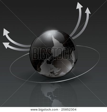 Vector Black Glass Globe for Big Business