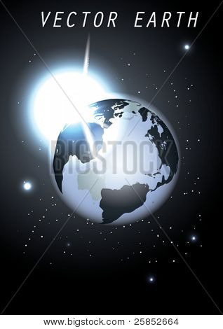 Vector Globe with Sun