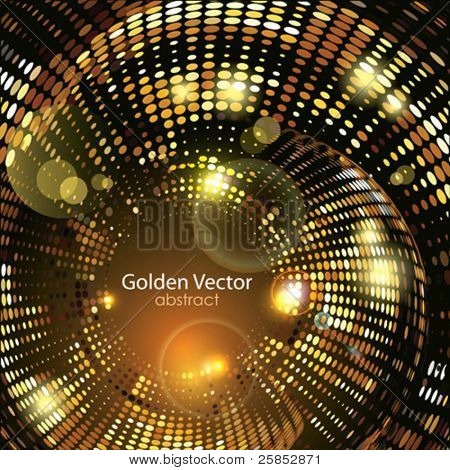 Vector Golden Abstract Background