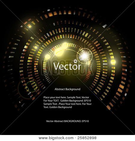 Vector Golden Abstract Background