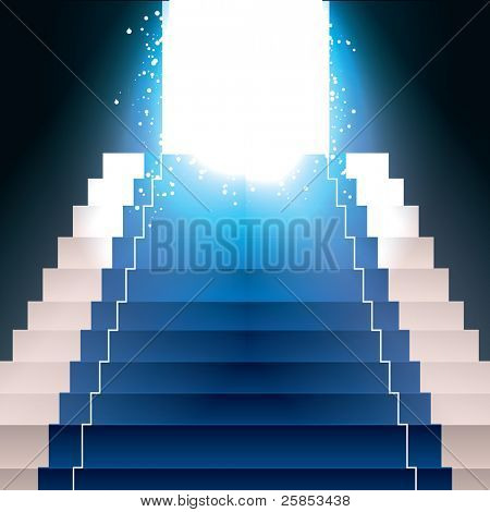 Vector Stairs with Light