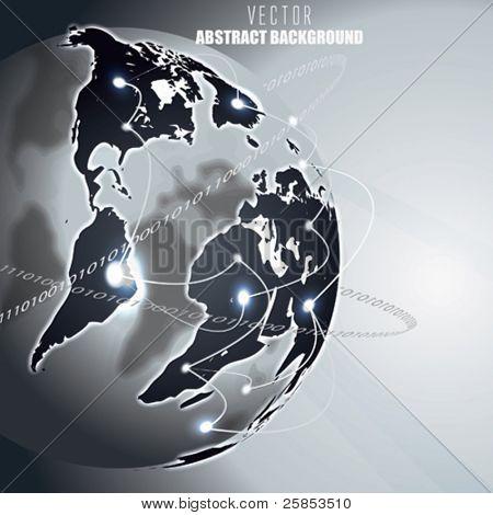 Vektor Erde mit globalen Internet-Kommunikation