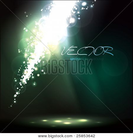Vector Abstract Background with Light Rays