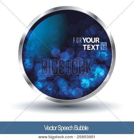 Vector Speech Bubble for Text