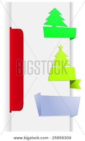 fir tree christmas banners