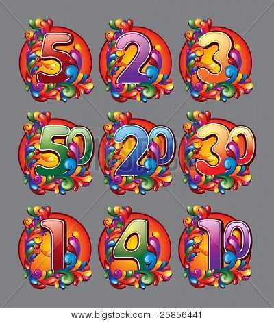 rainbow abstract number
