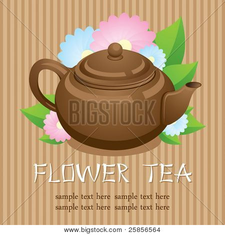 Teapot. Flower tea