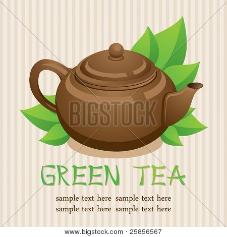 Teapot. Green tea