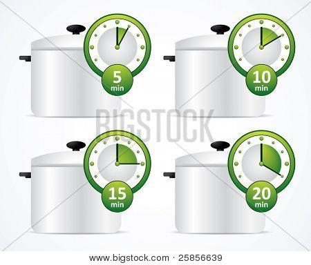 Green timer and pan