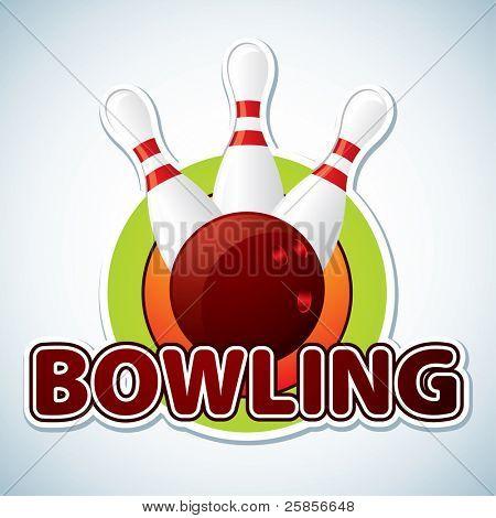 Bowling. Vector illustration