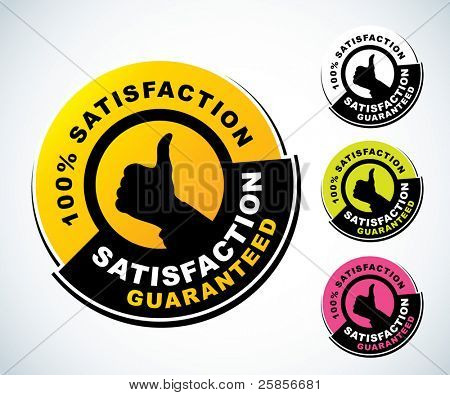 Satisfaction guaranteed label