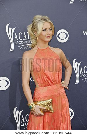 LAS VEGAS - APRIL 3 - Julianne Hough attends the 46th Annual Academy of Country Music Awards in Las Vegas, Nevada on April 3, 2011.