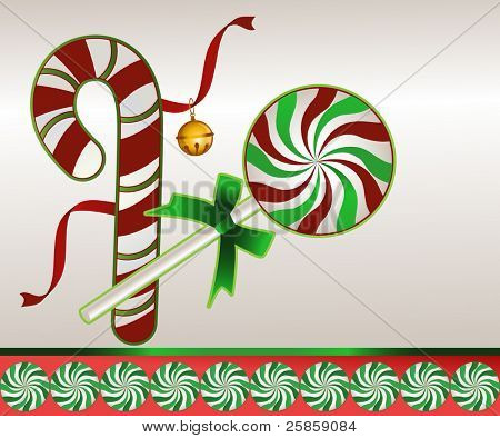 candycane and lollipop