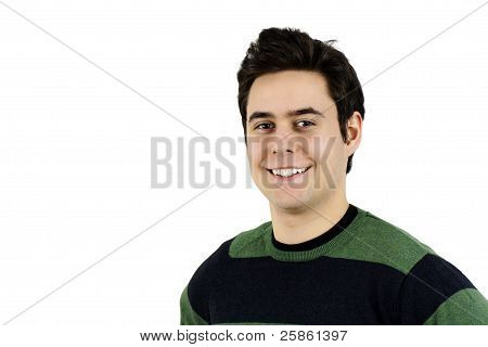 Portrait Of Casual Cute Young Guy