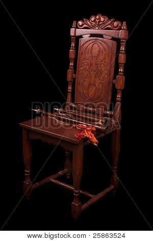 Chair With Medieval Wood Winds