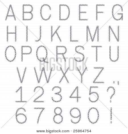 ABC chain alphabet letters isolated