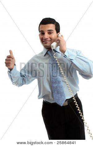 Successful Businessman On Telephone