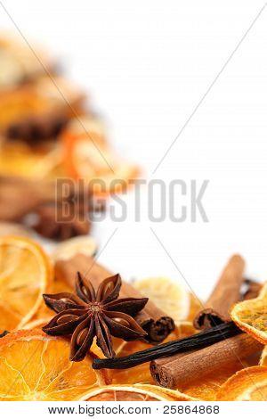 Christmas spices frame
