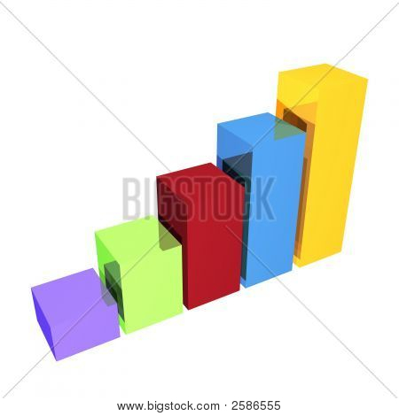 Clean Business Bar Chart In 3D