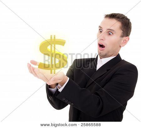 Empresario elige oro nos signo de dólar