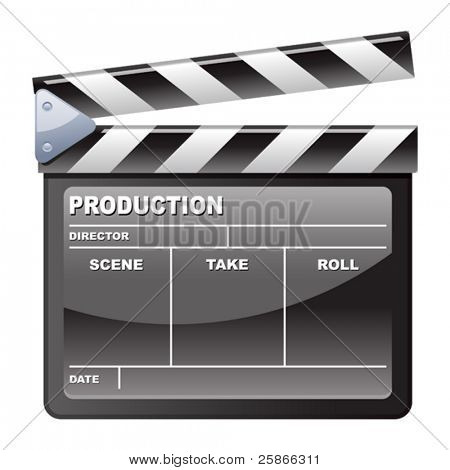 vector illustration of Film Clapboard