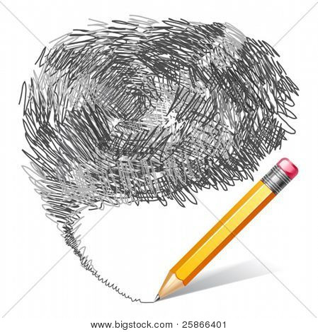 vector illustration of pencil background