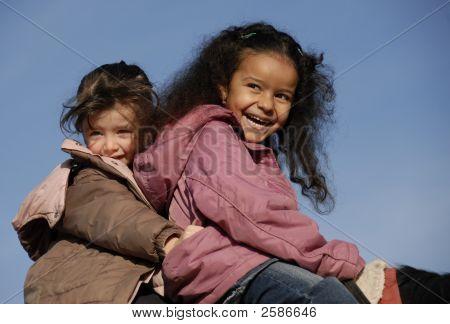 Two Laughing Girls