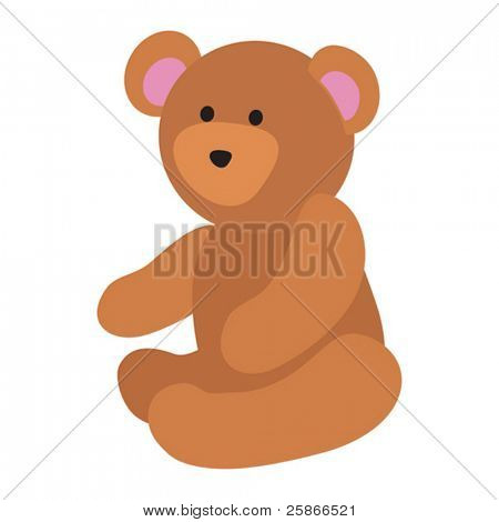 vector illustration of teddy bear