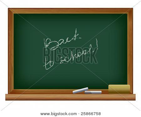 Vektor-Illustration von Blackboard. Zurück in der Schule