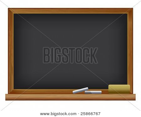 vector illustration of Blackboard. Back to school