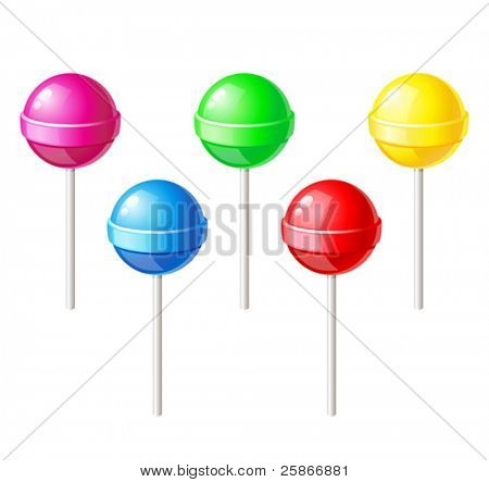 vector illustration of lollipop