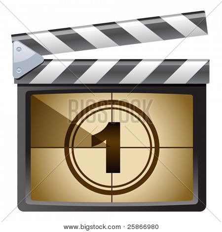 vector illustration of Film Clapboard. One