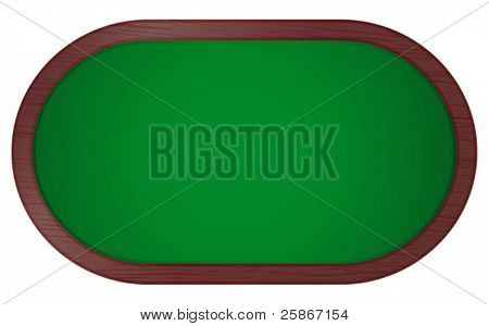vector illustration of poker table
