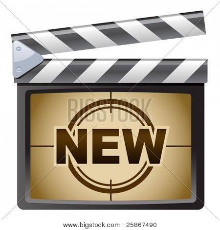 vector illustration of Film Clapboard. New