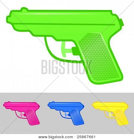 vector illustration of water gun
