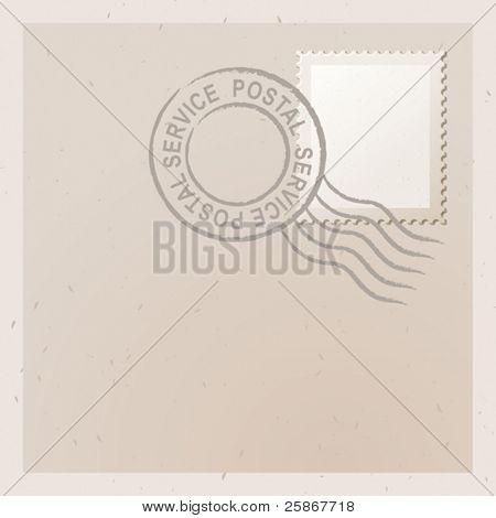 ilustração vetorial da antiga carta com carimbo