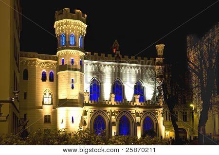 Riga,  Small Guild At Night