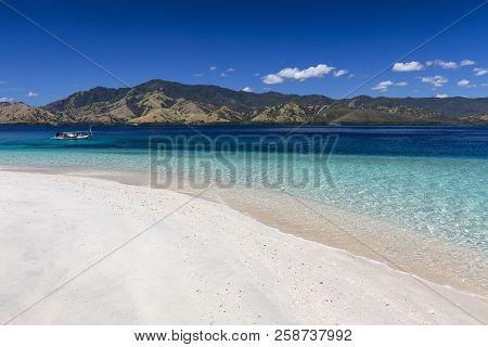 A Small Boat Near An