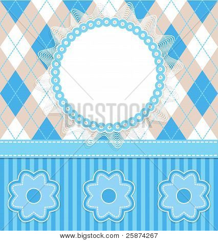 Baby Boy Card With Flowers