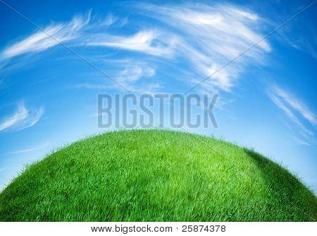 globo de tierra cubierta de césped