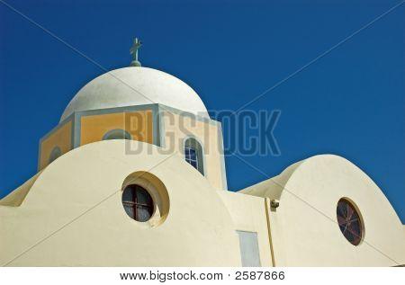 Old Church In Santorini