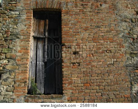 Wall With Wooden Shutter
